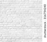white brick wall  | Shutterstock . vector #316754240