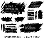 set of black ink vector stains | Shutterstock .eps vector #316754450