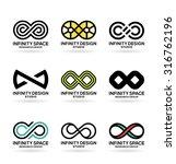 infinity symbols  6  | Shutterstock .eps vector #316762196