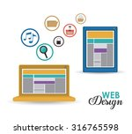 technology concept with gadgets ... | Shutterstock .eps vector #316765598
