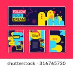 vector colorful design abstract ... | Shutterstock .eps vector #316765730