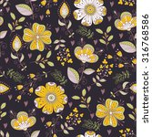 seamless pattern in vintage...   Shutterstock . vector #316768586