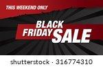 black friday banner. sale | Shutterstock .eps vector #316774310