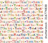 thank you. colorful seamless... | Shutterstock .eps vector #316774838