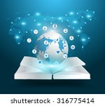 open book and globe knowledge... | Shutterstock .eps vector #316775414