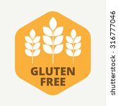 gluten free sign icon. no... | Shutterstock .eps vector #316777046