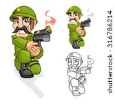 high quality captain army... | Shutterstock .eps vector #316786214
