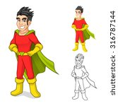 high quality cool super hero... | Shutterstock .eps vector #316787144