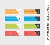 web buttons set   Shutterstock .eps vector #316787570