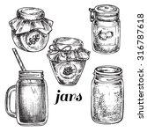 """hand drawn set jars"" for design | Shutterstock .eps vector #316787618"
