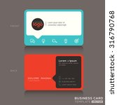 modern trendy business card... | Shutterstock .eps vector #316790768
