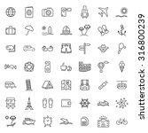 travel line vector icon set   Shutterstock .eps vector #316800239