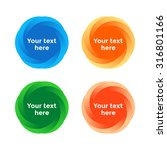 beautiful colorful round shapes ... | Shutterstock .eps vector #316801166