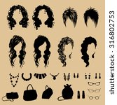 vector fashion silhouettes.... | Shutterstock .eps vector #316802753