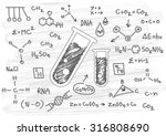 hand drawn science on paper | Shutterstock .eps vector #316808690