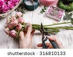 florist at work  woman making... | Shutterstock . vector #316810133