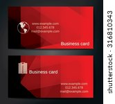 stylish business cards with... | Shutterstock .eps vector #316810343