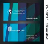 stylish business cards with... | Shutterstock .eps vector #316810766