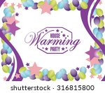 house warming party balloons...   Shutterstock .eps vector #316815800