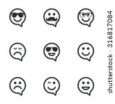 smile speech bubbles icons.... | Shutterstock .eps vector #316817084