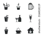 tea  coffee and beer icons.... | Shutterstock .eps vector #316818119