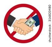 handshake with bribe over... | Shutterstock .eps vector #316820480