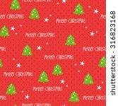 seamless christmas pattern | Shutterstock .eps vector #316823168