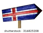 Iceland Flag Wooden Sign...