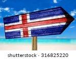 Iceland Flag Wooden Sign On...