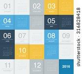 Calendar 2016   Flat Design...