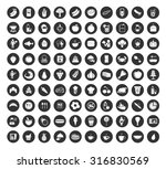 food and drink flat icons set | Shutterstock .eps vector #316830569