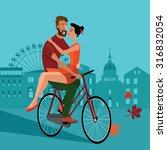 vector illustration of love... | Shutterstock .eps vector #316832054