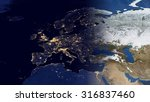 european map space view ... | Shutterstock . vector #316837460