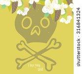 vector cute colorful art print... | Shutterstock .eps vector #316841324