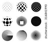 vector halftone dots... | Shutterstock .eps vector #316841990