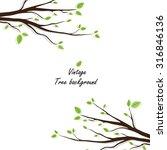 green abstract tree .vector... | Shutterstock .eps vector #316846136