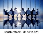 business people communication... | Shutterstock . vector #316846424