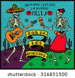 day of the dead  dia de los... | Shutterstock .eps vector #316851500