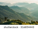 sunrise at northern of thailand | Shutterstock . vector #316854443