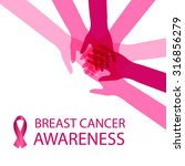 breast cancer awareness... | Shutterstock .eps vector #316856279