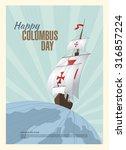 happy columbus day. vector...   Shutterstock .eps vector #316857224
