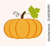 pumpkin and leaves | Shutterstock .eps vector #316858490