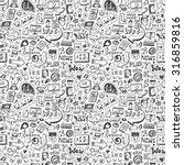 web seamless background | Shutterstock .eps vector #316859816