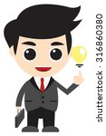 idea business man cartoon | Shutterstock .eps vector #316860380