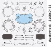 hand drawn vector design... | Shutterstock .eps vector #316860458