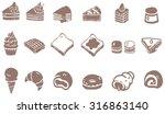 doodle drawing of dessert sweet ... | Shutterstock .eps vector #316863140