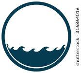 water waves round sign  vector... | Shutterstock .eps vector #316864016