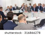 audience at the conference hall.... | Shutterstock . vector #316866278