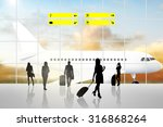 international airport terminal... | Shutterstock . vector #316868264