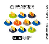 isometric flat icons  3d...